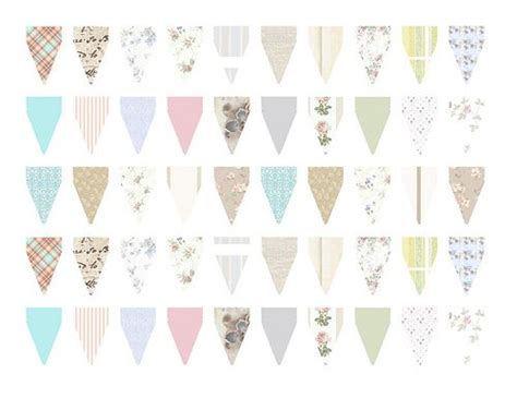 free printable bunting flags and tutorial mini bunting printable partay pinterest buntings