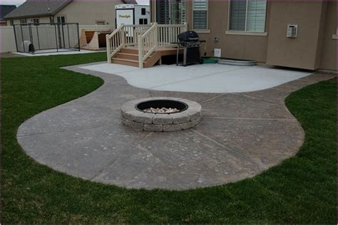 Ideas For Covering Concrete Patio by Best Concrete Patio Designs With Pit 15 On Diy Patio