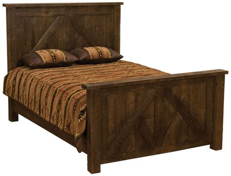 brown headboard double frontier barn brown twin timber frame headboard from