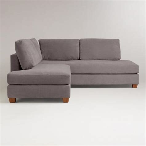 charcoal wyatt sectional sofa world market