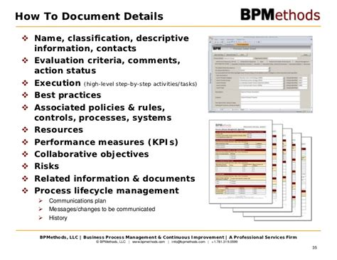 simple process document template strategy business process management