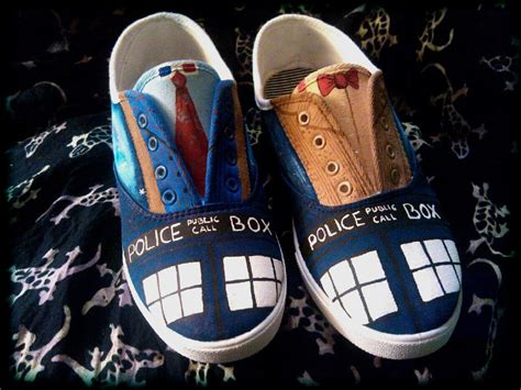 doctor who slippers painted shoes inspired by doctor who for idealpin
