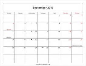 Calendar 2017 September 2017 September Calendar With Moonphases Pdf Monthly
