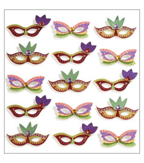 Mardi Gras Mask Stickers