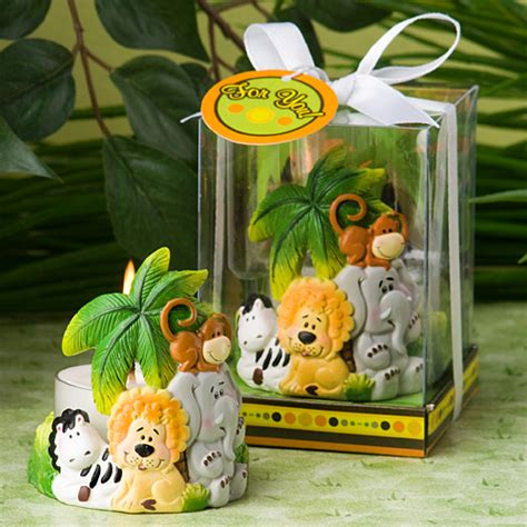 Safari Baby Shower Centerpieces by Jungle Critters Collection Candle Favors Safari Baby