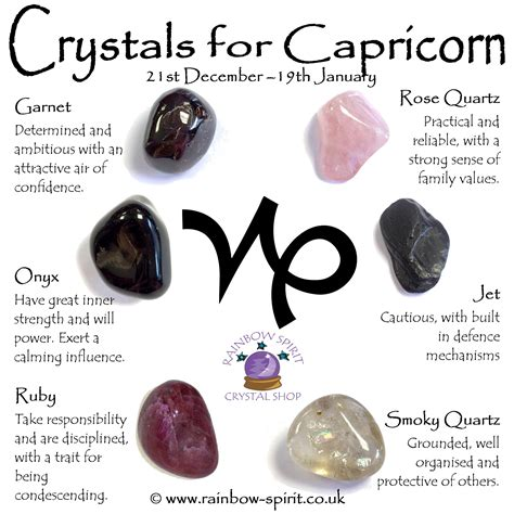 crystal astrology the ultimate crystal astrology guide for birthstones for capricorn by rainbow spirit crystal shop a set of birthstone crystals rose