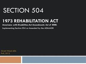 section rehabilitation act americans with disabilities act