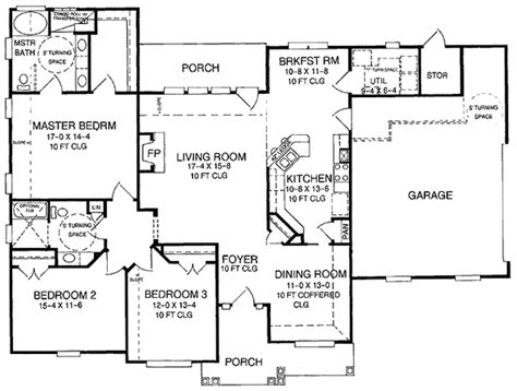Universal Design Home Plans | attractive universal design 5452lk 1st floor master