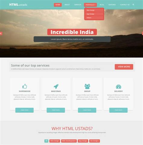 html5 template one page 31 free html5 website themes templates free premium