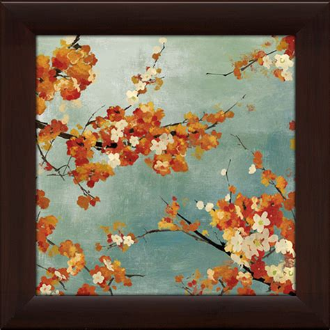 Invicto Ii Cherry White Orange orange blossoms ii framed canvas