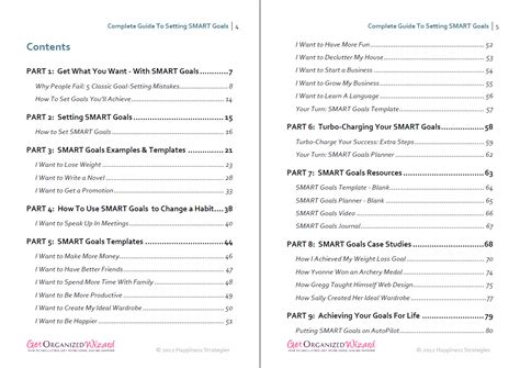 Goal Journal Template setting smart goals templates exles worksheets
