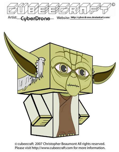 Yoda Papercraft - cubeecraft yoda clone wars version by cyberdrone on