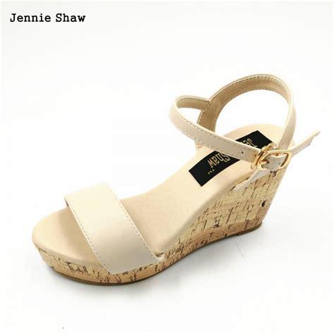 Sandal Wedges Ym08 Hitam 42 summer bohemia platform wedges sandals high heels shoes 30 31 32 33 41 42 43 in
