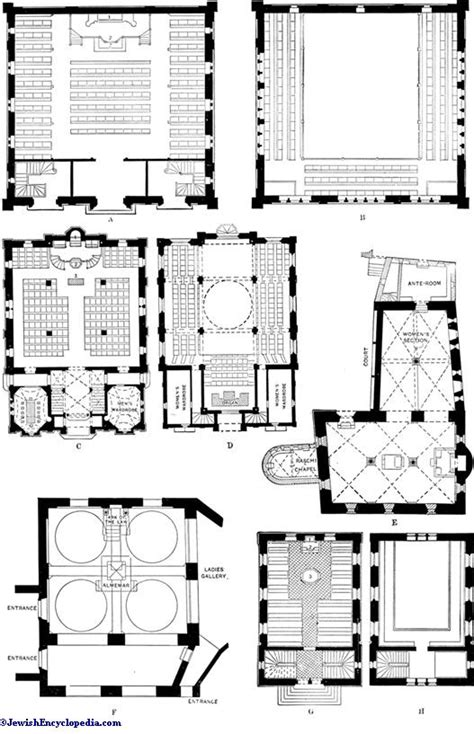 synagogue floor plan synagogue architecture jewishencyclopedia com