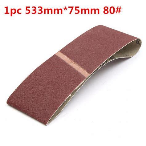 533mm 75mm 80 Grit Alumina Sanding Belt Sandpaper Self