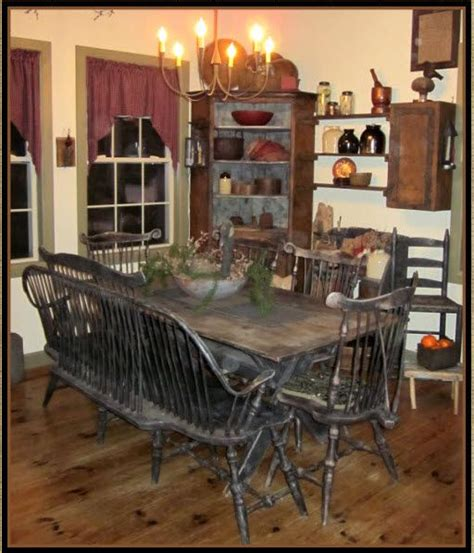 best 25 primitive dining rooms ideas on prim