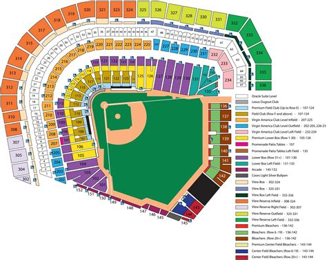 at t stadium map att park seating chart seating chart for giants at