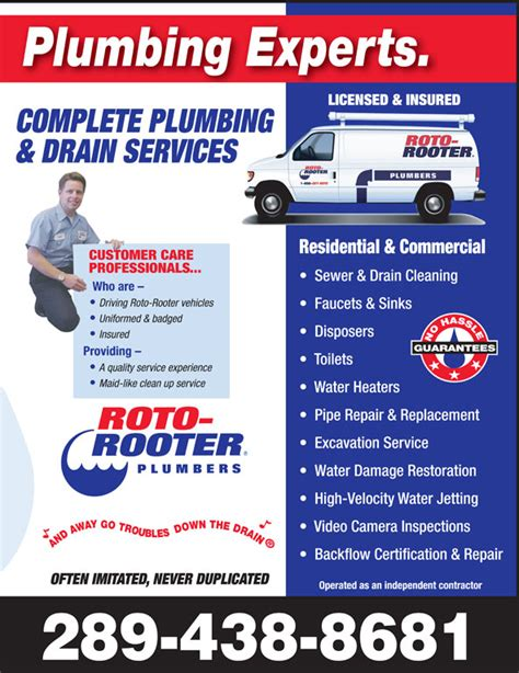 Plumbing Places Near Me Roto Rooter Plumbing Drain Service St Catharines On