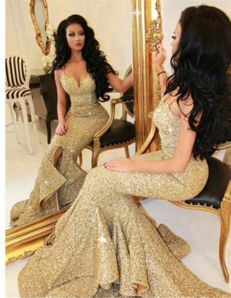 $179.99 Cheap Prom Dresses 2017 Trumpet/Mermaid Sweetheart Sequined Daffodil