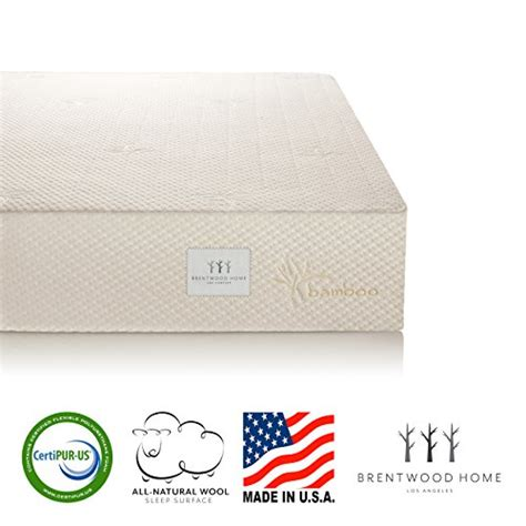 Mattress Sale Usa by Brentwood Home 10 Inch Gel Hd Memory Foam Mattress Made In Usa Certipur Us 25 Year Warranty