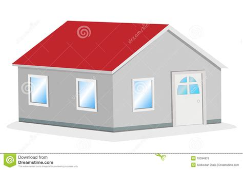 easy house loans simple house vector illustration royalty free stock image image 10094876
