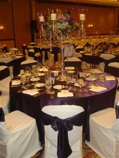 eggplant colored table linens 1000 images about eggplant and ivory wedding on