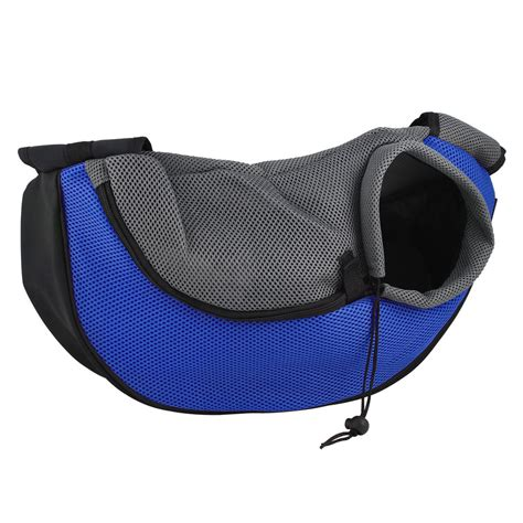puppy carrier sling new pet cat puppy carrier mesh travel tote shoulder bag sling backpack blue ebay