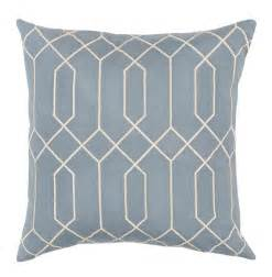 regency linen light blue pillow
