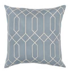 regency linen light blue pillow