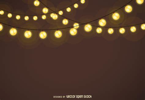christmas lights garlands background vector download