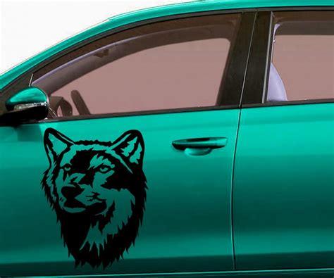 Aufkleber Indianer Und Wolf by Autoaufkleber Indianer Amerika Western Aufkleber Wolf Auto