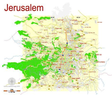 maps g jerusalem israel free printable svg map hebrew
