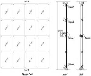 Install Curtain Rods Fin Glass Design With 220mm Fin Spider Fitting