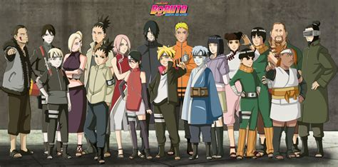 boruto friends boruto naruto the movie hidden leaf village by