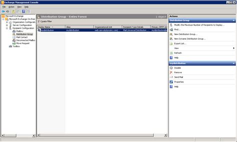exchange management console why doesn t my new distribution accept emails from