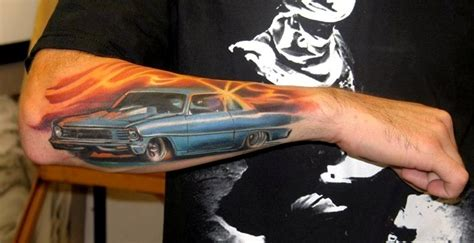 car guy tattoos awesome right arm car for tattooshunt
