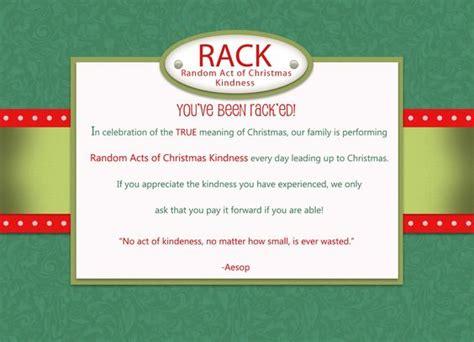 random acts of christmas kindness printables random acts