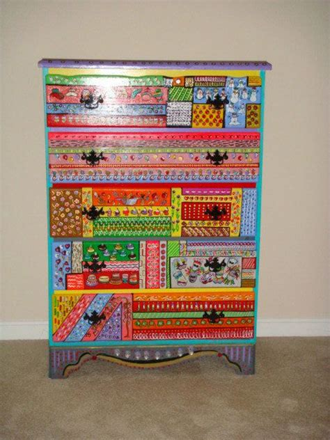 Colorful Chest Of Drawers by Colorful Chest Of Drawers Funky Painted Stuff