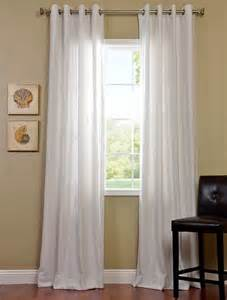 White Grommet Curtains Polar White Grommet Cotenza Curtain Contemporary Curtains San Francisco By Half Price Drapes