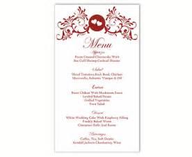 wedding menu card template wedding menu template diy menu card template editable text