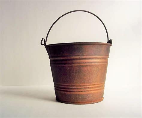 Vintage Brass Vase Metal Bucket Old Rusty Bucket Pail Antique Bucket No 5