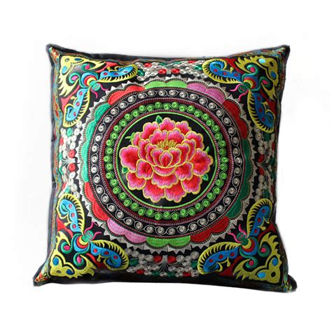 Machine Washable Pillows by Style Colorful Handmade Embroidered Linen