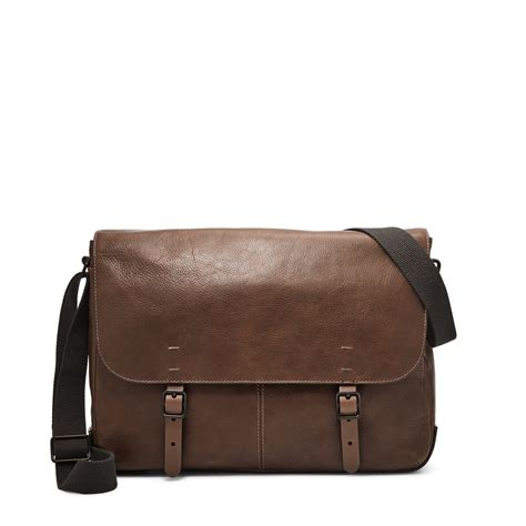 Handmade Leather Bags Canada - defender messenger fossil singapore