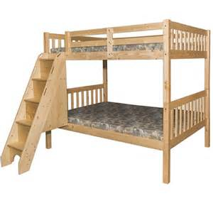 full full bunk bed stairs milan natural children s