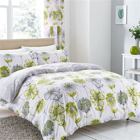 green bedding and curtains catherine lansfield banbury floral duvet cover bedspread