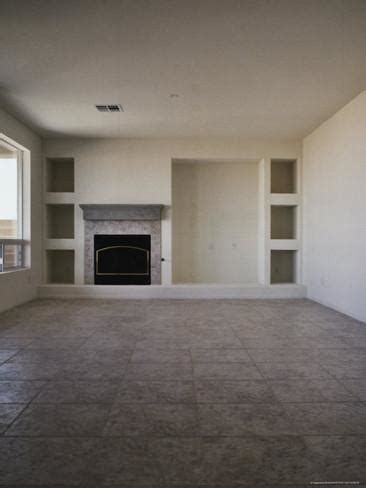 what to do with empty space in living room empty living room with fireplace photographic print