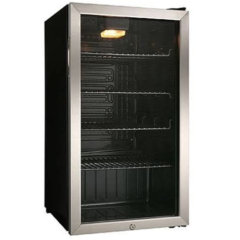 Danby Glass Door Mini Fridge New Danby 120 Can Beverage Glass Door Refrigerator Cooler Stainless Steel Ebay