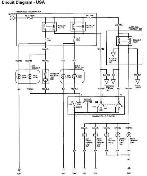 acura integra headlight wiring diagram hp photosmart printer