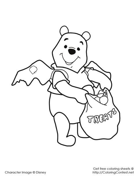 halloween coloring pages disney characters 30 best all things pooh holidays images on pinterest