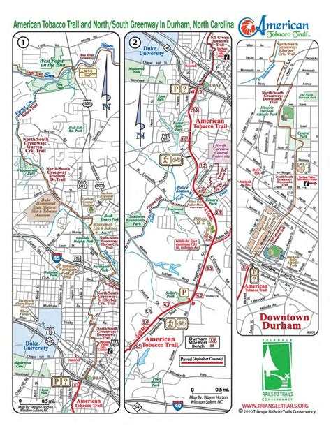 american tobacco trail map american tobacco trail maplets